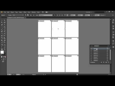 Adobe Illustrator Cs64tting Up Multiple Artboards Youtube