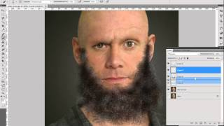 how to draw a beard in adobe photoshop
