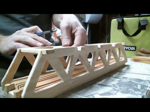 DIY Wooden Truss Bridge for Brio-compatible toy train sets