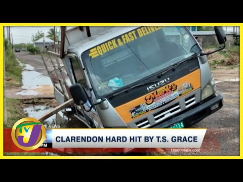 Tropical Storm Grace Aftermath in Clarendon Jamaica | TVJ News - August 18 2021