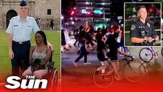 BLM protester shot dead in Austin who was pushing fiancee in wheelchair moments before attack