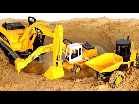 รีวิว ของเล่น รถดั้ม รถแม็คโคร ตักทรายจากบ่อ