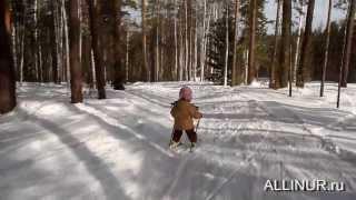 Ребенок в три года на лыжах - ALLINUR.ru Клуб Путешествий