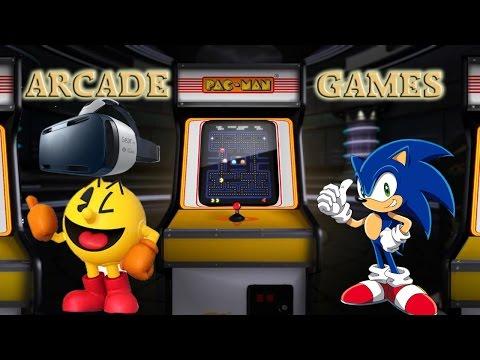 Arcade Games on Samsung Gear VR (Sonic, Pac-Man etc.)