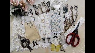 SomerSet Studio Project - Winged Paper Dolls Tutorial