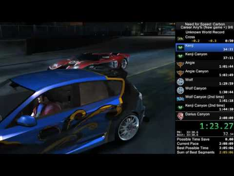 NFS Carbon Any% New Game + Speedrun in 2:01:12 [old wr]