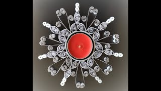 Quilling Snowflake Candle Holder