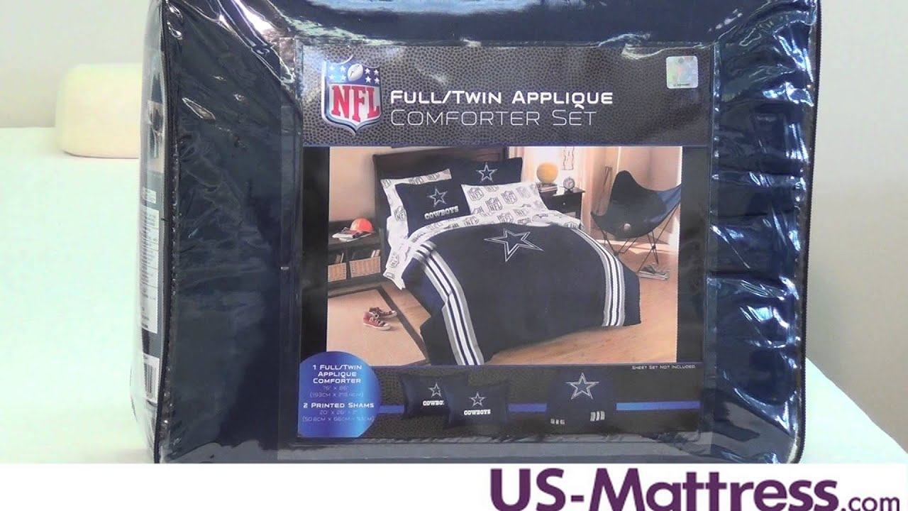 Dallas Cowboys Twin/Full Comforter Set By Northwest Company   YouTube