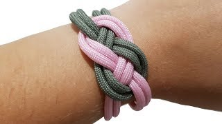 DIY St. Josephine (Infinity ) Knot Bracelet  how to [by ParacordKnots]