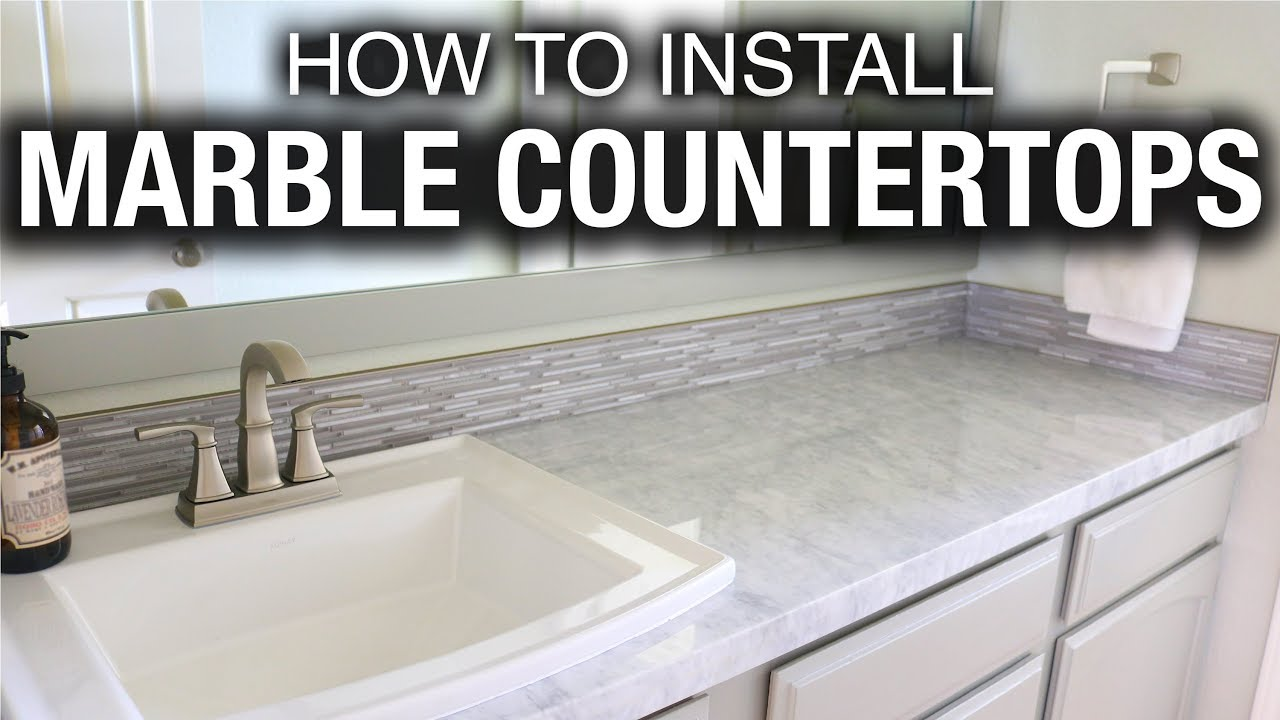 Installing A Countertop How To Install Marble Or Granite Countertops In A Bathroom