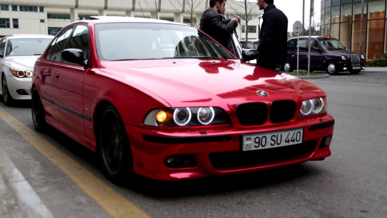 Bmw E39 Red Chrome Edition Azerbaijan Youtube