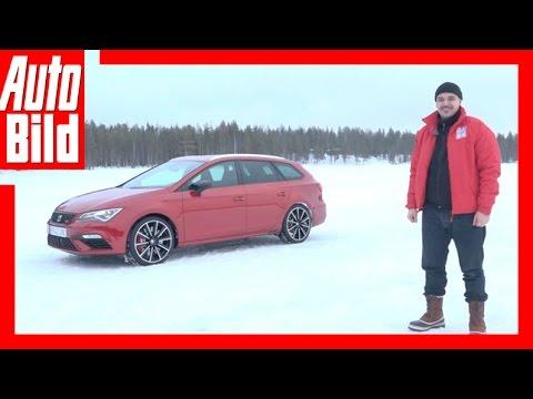 Redakteur Dean Malay am driften mit dem Cupra- Seat Leon Cupra-Test im Schnee (2017)