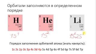Химия ОГЭ ЕГЭ решение задач. Урок 3. Атомные орбитали электронная формула энергетическая диаграмма