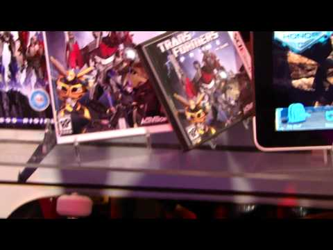 Transformers Prime Wii and Nintendo DS game packaging