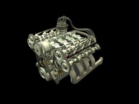 S4, S6, V6, V8 & V12 Engine Animation