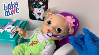 Baby Alive Pumpkins Goes To The Dentist baby alive videos