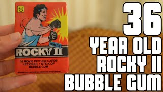 Trying 36 Year Old Rocky II Bubble Gum | WheresMyChallenge