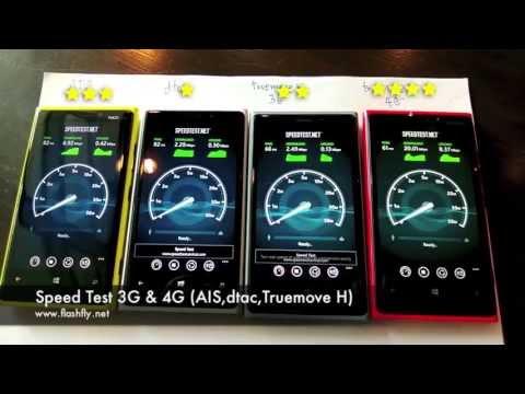 Speed Test 3G vs 4G (AIS,Dtac,Truemove H) @Chamchuri Square