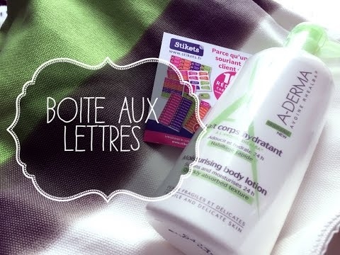 Ma boite aux lettres #158 UNBOXING (aderma, Stikets, amazon...)