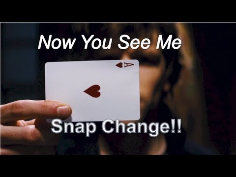 Thumbnail: Now You See me /David Blaine Card Trick! (Snap Change Tutorial!)