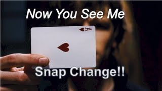 Now You See me /David Blaine Card Trick!  (Snap Change Tutorial!) thumbnail