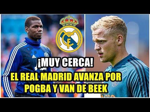 ¡EL REAL MADRID AVANZA POR POGBA Y VAN DE BEEK! LOS DOS FICHAJES MUY CERCA