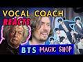 VOCAL COACH Reacts to BTS - Magic Shop Live & Studio Reaction & Comparison