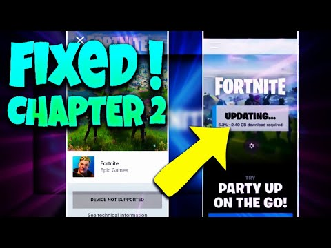 How To Get Fortnite APK Chapter 2 On Unsupported Devices-Fix Any Android Devices !