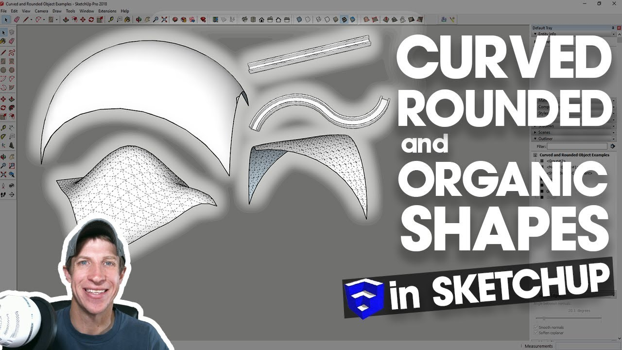 10 Ways to Create Curved, Rounded, and Organic Shapes in SketchUp