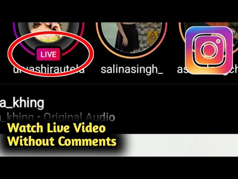 How to Watch Instagram Live Video Without Comments