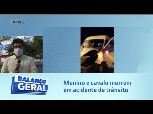 Menino e cavalo morrem em acidente na Avenida Durval de Góes Monteiro