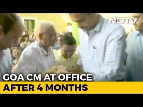 On New Year, Ailing Manohar Parrikar At His Office After Months