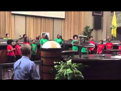 Oakland Kids Sing At City Council Meeting On Love Life Slogan