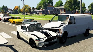 Crossroad Car Crashes 46  BeamNG.Drive