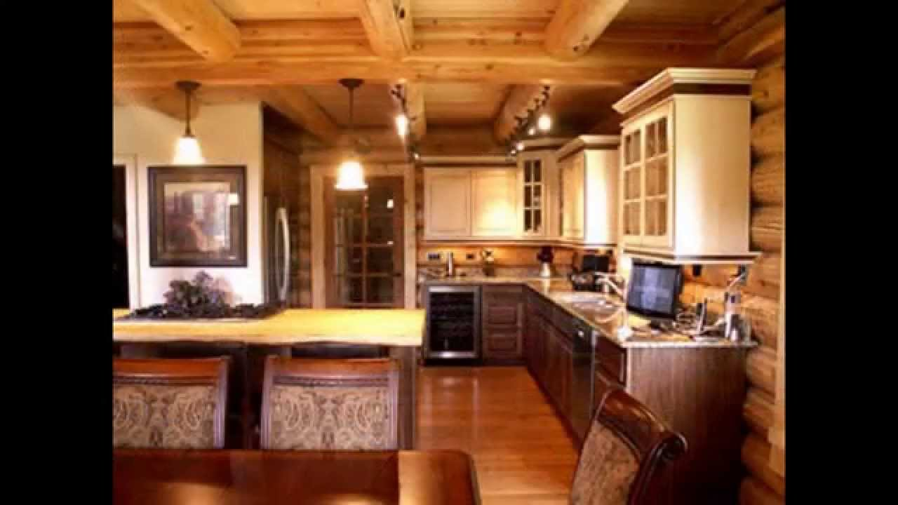 Cool log cabin kitchen ideas youtube for Kitchen ideas for log homes