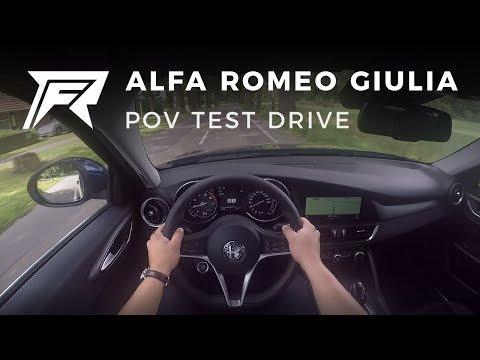 2017 Alfa Romeo Giulia 2.0T 200HP - POV Test Drive (no talking, pure driving)