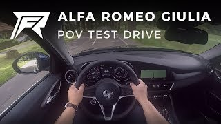 2017 Alfa Romeo Giulia 2.0T 200HP - POV Test Drive (no talking, pure driving)
