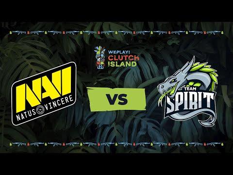 NaVi vs Spirit - Map2 @Dust2 | VODs_ru | WePlay! Clutch Island