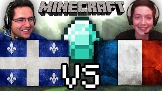 Défis Minecraft | Québec VS France, trouvé du diamant avec miniskateur!