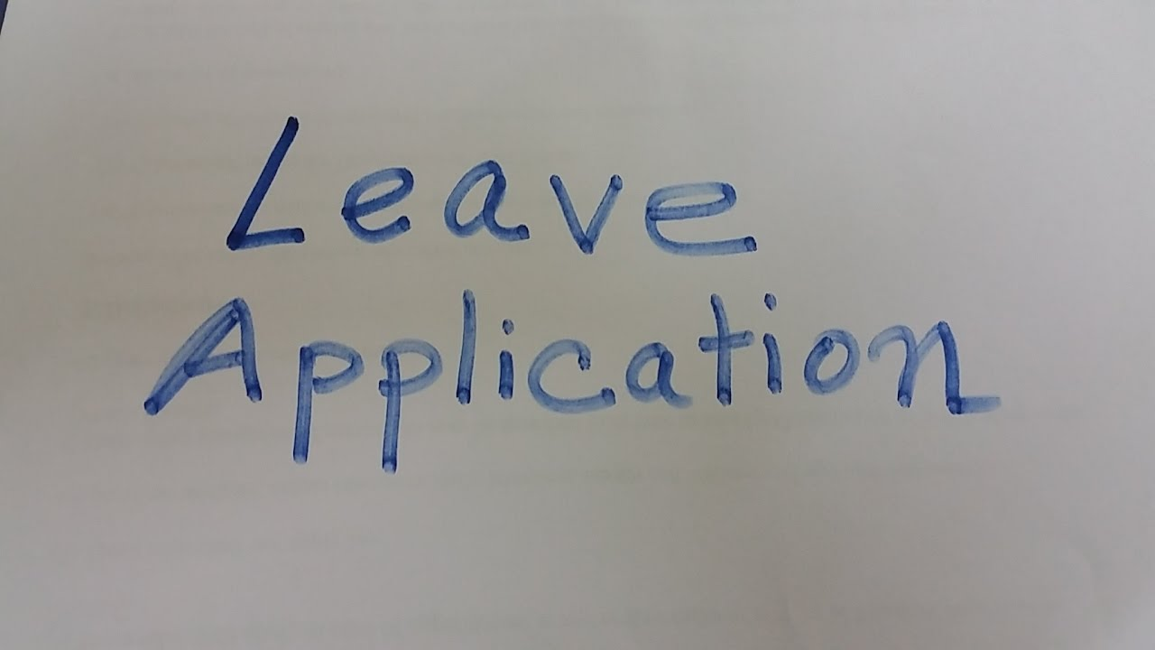 How to write leave application in office part i youtube how to write leave application in office part i altavistaventures Images
