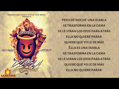 Diabla LetraFarruko Ft Bad Bunny & Lary Over