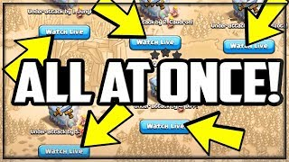 The ENTIRE Clan Attacked At Once for $65,000 - Clash of Clans