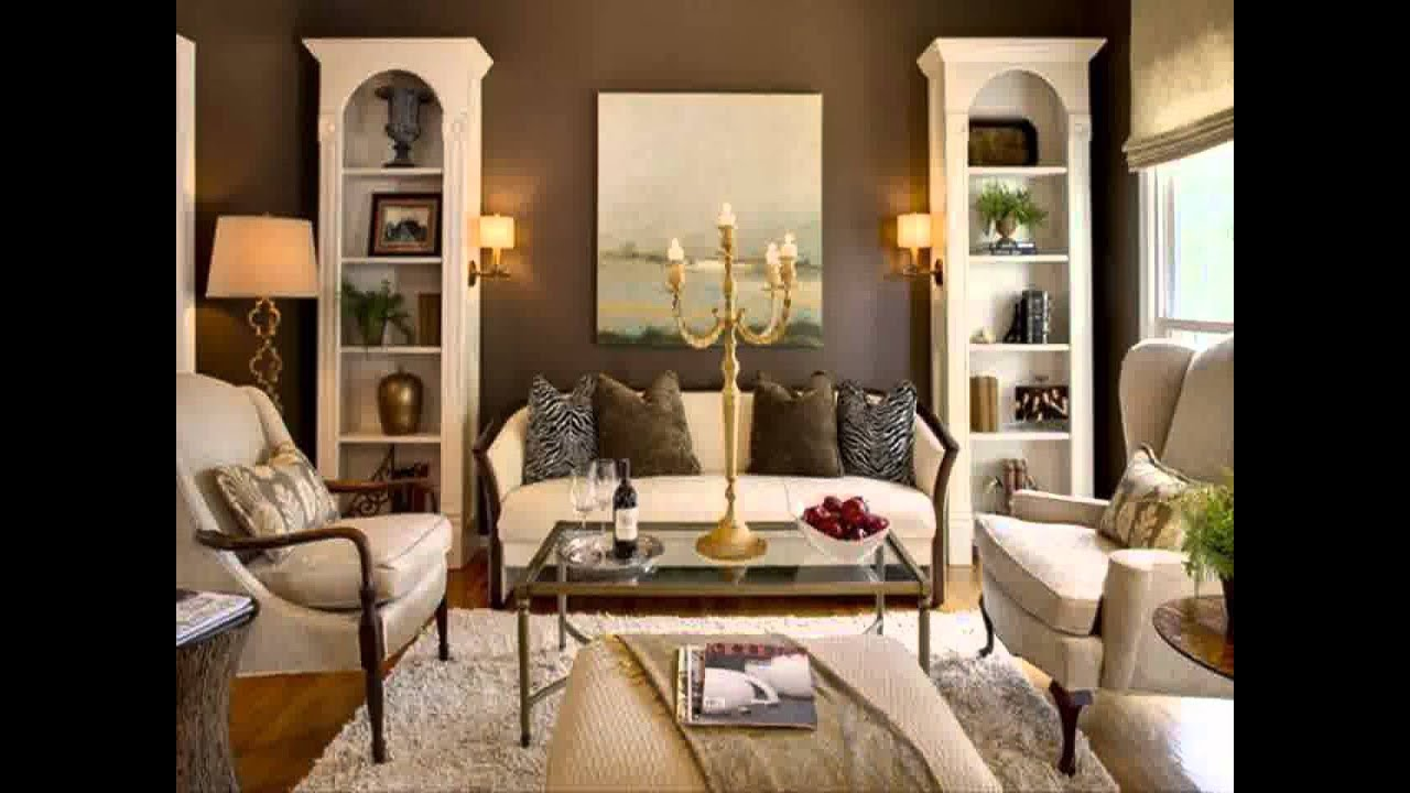 living room ideas with red accent wall - YouTube