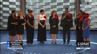 Mothers of the Movement at Democratic National Convention (C-SPAN)