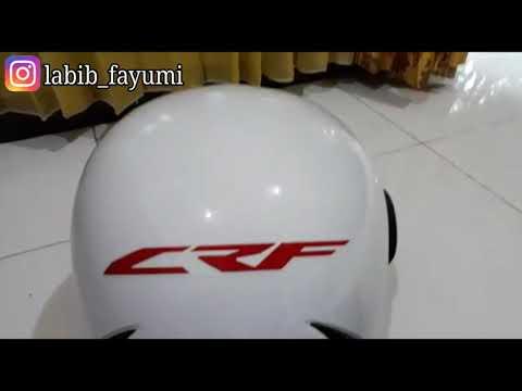review helm hadiah beli motor honda CRF150L