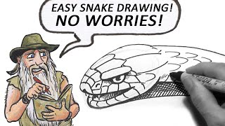 How to Draw a Snake (Beginner)