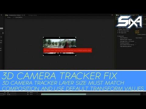 After Effects | 3D CAMERA TRACKER error fix