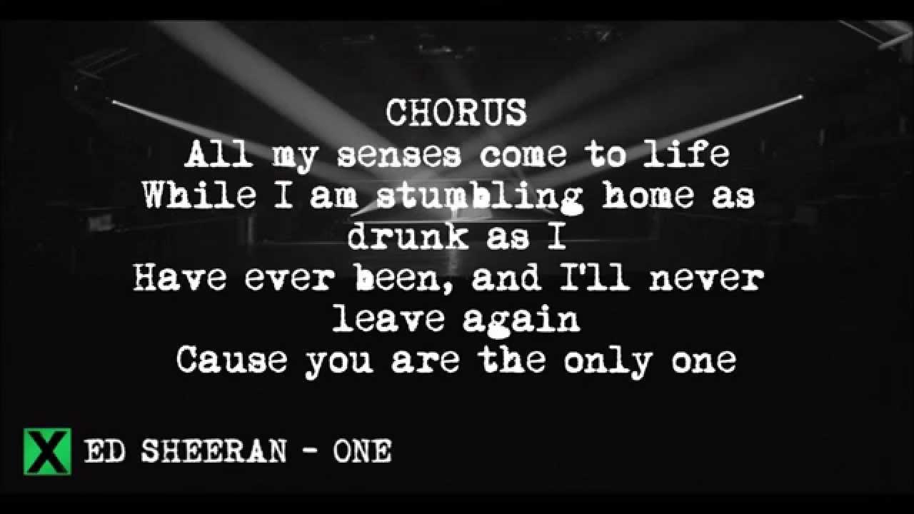 One (Acoustic Version) - Ed Sheeran LYRICS