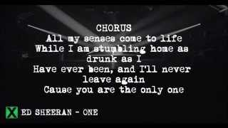 One (Acoustic Version) - Ed Sheeran LYRICS