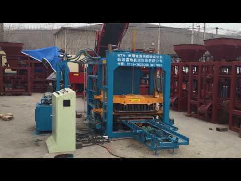 show around detail Fuda brick machinery QT4-18 automatic concrete block machine